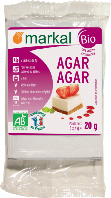 Design packaging algues Agar agar Markal