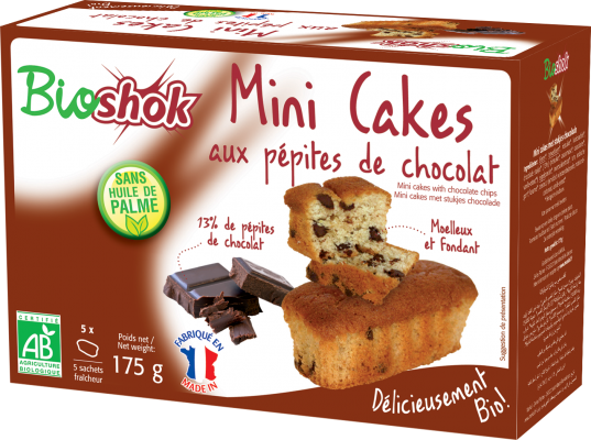 Design packaging mini-cakes Bioshok